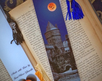 Spooky Gothic Château de Fougères French Castle Halloween Scary Brittany France 10th Century Fine Art Photography Photo Laminated Bookmark