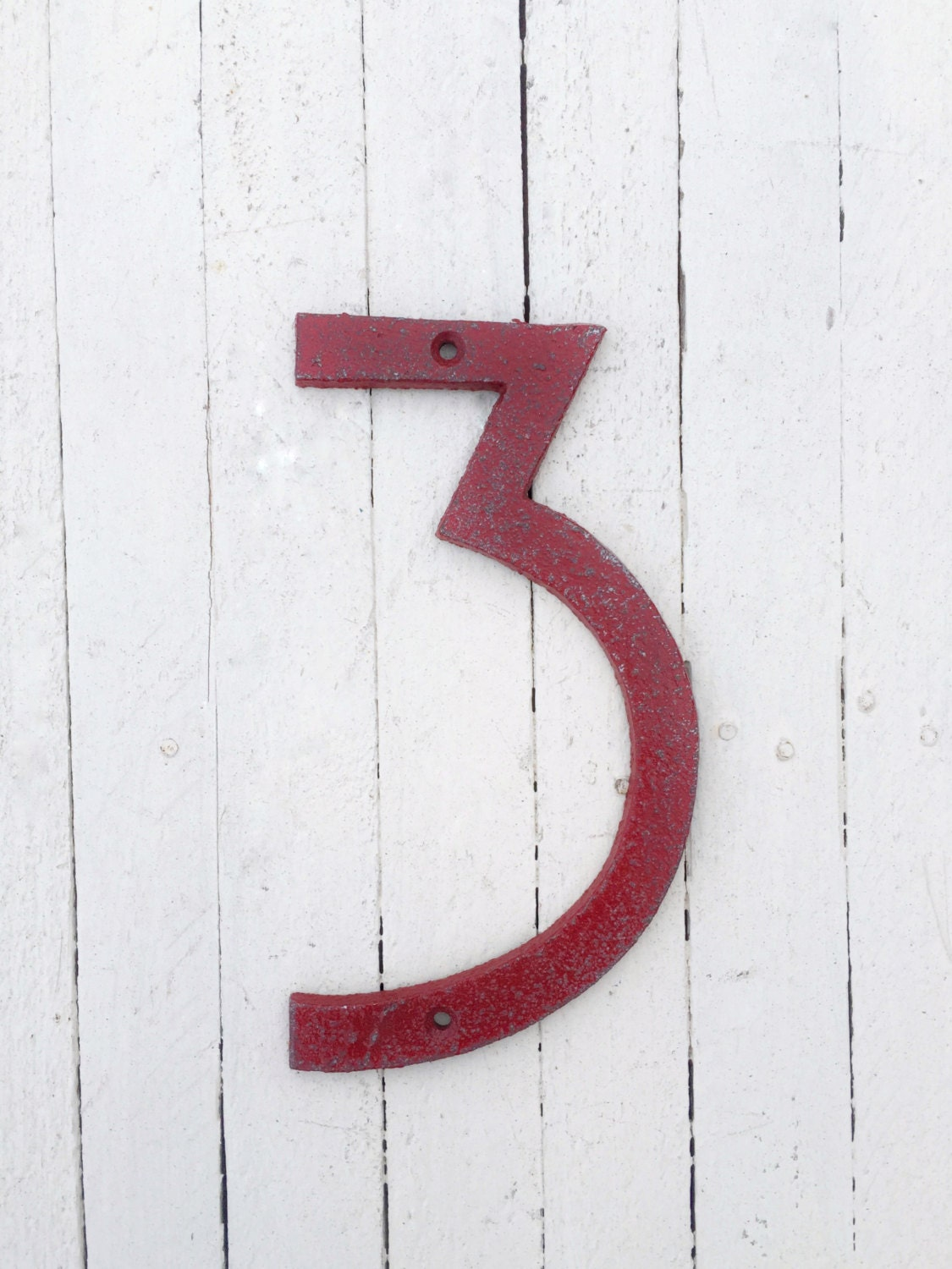 Large numbers modern house numbers mid century modern iron for Big modern house numbers