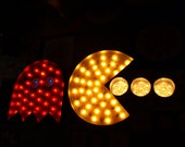 vintage marquee art Pac Man Atari Chase Fade Dim Flash Remote Control