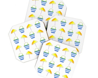 Beach Holiday Coaster Set
