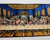 Vintage LAST SUPPER hanging tapestry made in ITALY jesus religious
