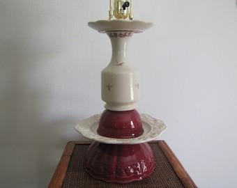 RePurposed Dinnerware Lamp, Table Lamp, Cup and Saucer Lamp