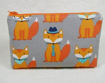 Zipper Pouch, Trendy Foxes, Fox Pouch