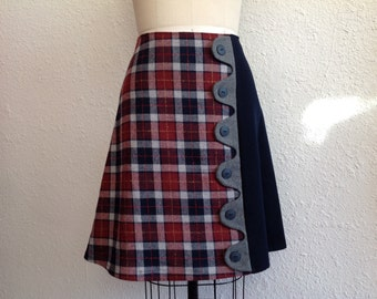 Reserved for Ana- SALE Mallory asymmetrical a-line skirt Sz 12