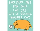 Greeting Card - Foodproof Diet For Your Fat Cat