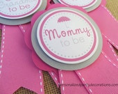 Umbrella Baby Shower Decorations, Baby Shower Decorations, Umbrella Baby Shower Décor, Spring Baby Shower MOM TO BE Pin, You Choose Colors