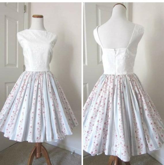 Vintage Wedding Dresses Bath : Vintage style dress bridal shower tea party ooak