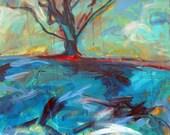 Original Art painting plein air the Tree