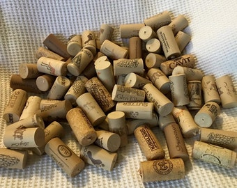 Lot of 100 + used Wine corks all natural craft supplies