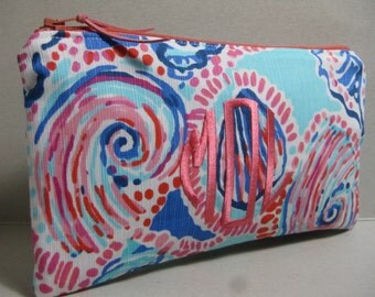 Lilly Pulitzer Make Up Bag/Clutch/Pencil Case  (Multi Shell Me About It)w/ or w/out Monogram/Holiday Gift Giving / Preppy/Sorority