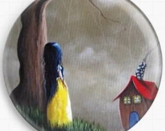 Needle Minder, Licensed Art, Shawna Erback, Snow White, Cross Stitch Keeper , Fridge Magnet