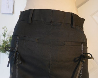 Layering Skirt Open Front Hip Skirt