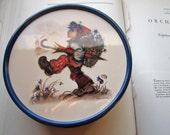 Vintage Tin * 1990's Hummel Tin Can * Traveler Tin *