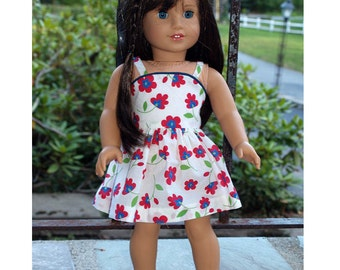 18 inch Doll Clothes  -  Girl Doll Clothes - Floral Sundress
