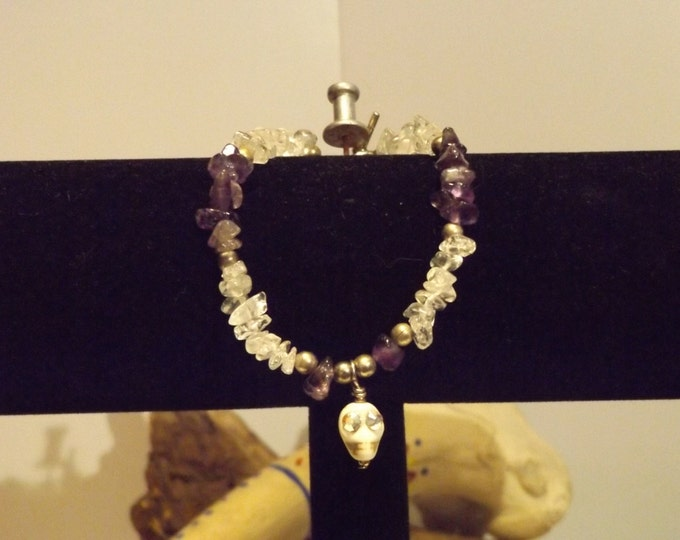 Amethyst and Crystal Healing Bracelet, Healing Crystal and Gemstone Jewelry, Healing Jewelry, Healing Crystal and Stones,