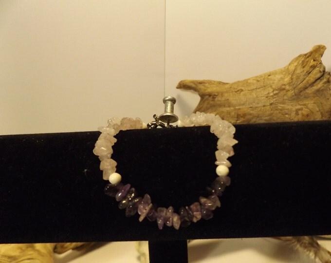 Rose Quartz and Amethyst Healing Crystal Bracelet, Healing Crystal and Gemstone Jewelry, Healing Jewelry, Healing Crystal and Stones