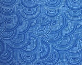 SALE - Blue Circular Tonal, Fabric Traditions, 100% Cotton Quilt Fabric, Quilting Fabric