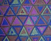 COUPON Sale - Brandon Mably, Beaded Tents, Dark, Rowan Westminster, 100% Cotton Quilt Fabric, Purple Fabric, Geometric Fabric, SELECT A SIZE