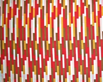 SALE - Moda Fabric, Boho, Eclectic, Scarlet, Urban Chicks, 100% Cotton Quilt Fabric, Quilting Fabric, Stripe