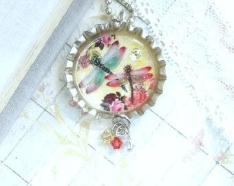 Dragonfly Necklace Summer Necklace Insect Necklace Woodland Necklace Dragonfly Gifts Dragonfly Jewelry