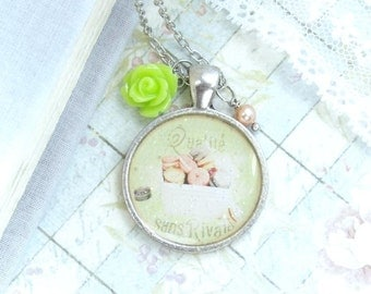 Macaron Necklace Dessert Necklace Food Necklace Shabby Chic Jewelry French Necklace Macaron Jewelry