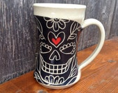 Black Sugar Skull Love Mug