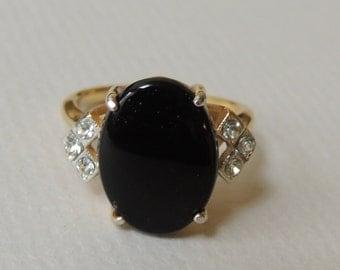 Genuine Black Onyx Ring size 8