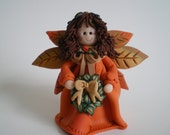 RESERVED FOR TERESA Clay Harvest Angel by Helen's Clay Art - Polymer Clay