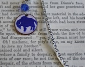 Buffalo Bookmark, Gift For Book Lovers, Blue Buffalo Bookmark, Penny Book Mark, Metal Bookmark, Beaded Bookmark, Copper Enamel Book Mark