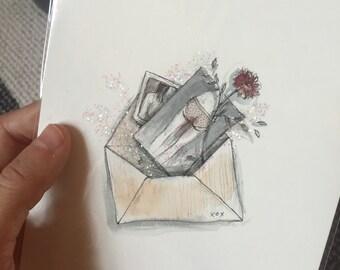 Snail Mail original drawing