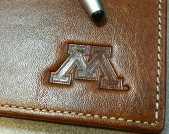 SALE - Vintage University of Minnesota leather journal