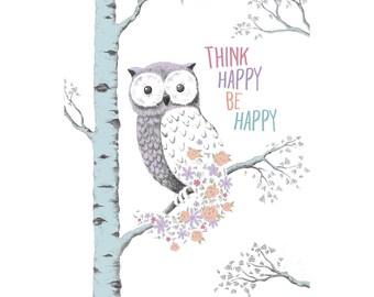 Think Happy Owl