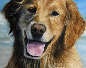 Custom Pet Portrait Dog Painting in OIL by LARA 5x7 Horse Cat
