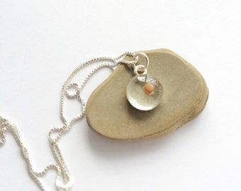 mustard seed necklace - small sterling silver mustard seed necklace - sterling mustard seed faith gift