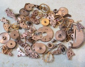 Vintage WATCH PARTS gears - Steampunk parts - k9 Listing is for all the watch parts seen in photos