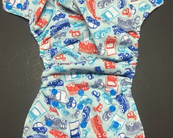 SECOND** MamaBear BabyWear Waterproof Diaper Cover, Wrap One Size Fits All - Heavy Equipment