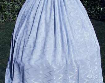 Soft Blue Satin Skirt/ Marie Antoinette/Colonial/Pompadour/Southern Belle Ball Gown  - Med   FREE SHIPPING!