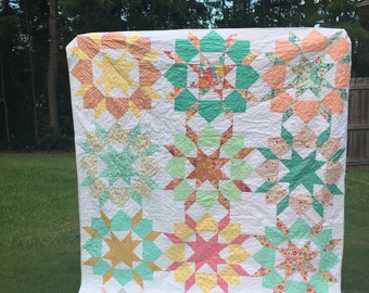 Swoon Quilt, You choose Size and color palette