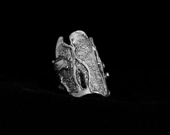 Fashion statement ring,big silver ring for man, Statement ring for women,designer ring,ring for him, ring for her.