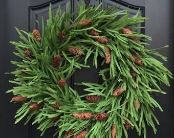 Holiday Wreath, Wreath, Wreaths, Christmas Pine Wreath, Christmas Wreaths, Winter Wreaths, Pinecone Wreath, XL Christmas Wreath