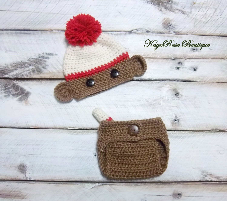 Pañal y calcetín mono recién nacido Niño Pom Pom del sombrero
