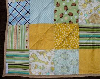 Crib Quilt - Baby Boy Quilt - Handmade Baby Quilt - Crib Blanket Quilt - Lightweight Quilt - Quilted Baby Blanket - Neutral Baby Nursery