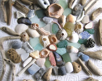 90 Surf Tumbled Assorted Fragments Art Mosaic Craft Supplies (1907)