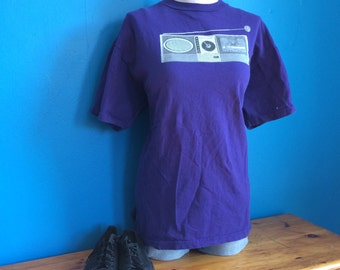 Vintage, purple Beck concert tour t-shirt from the early 90's