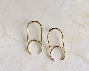 Post Back Curvature Earrings.