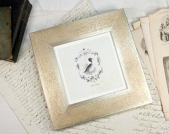 8x8 Wide Flat Engraved Silver Photo Frame