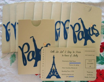 Paris Boarding Pass Invitation
