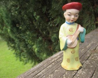 Vintage Oriental Man--Made in Japan--Asian Man--Cottage Chic--Japanese Man Figurine