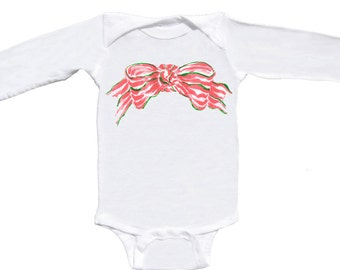 First Christmas Romper Long Sleeve Baby Bodysuit by Mumsy Goose Newborn Rompers to Kids Tees