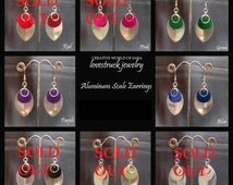 CLEARANCE Aluminum Scale Earrings
